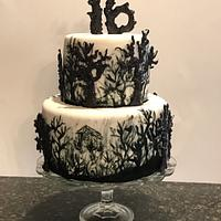 Halloween Forest Cake