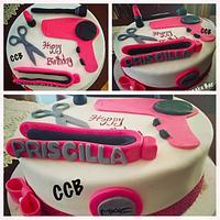 Cosmetologist Cake
