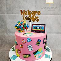 80´s party cake