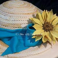 Summer hat birthday cake