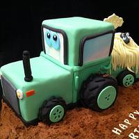 tractor cake by sasha