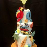 Jimmy Buffet Margaritaville  Parrothead cake