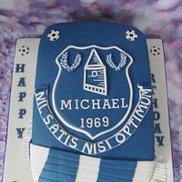 Everton shield cake.
