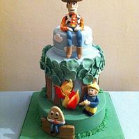 Woody, Fireman Sam & Humpty Dumpty 3 tier cake