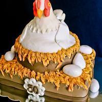 Nesting Hen Cake