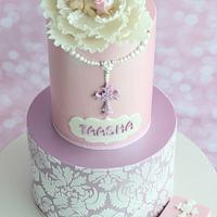 Baptism Cake- For Taasha