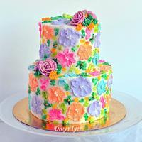 Buttercream Painting cake