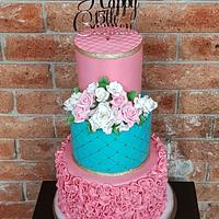 Cake for Quinceanera Mexican 15th Birthday Party