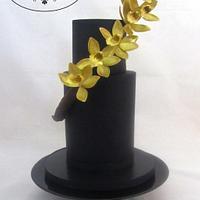 Elegant Gold Orchids