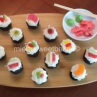 Sushi Cake by miettesweets