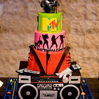 80's Birthday Bash Cake