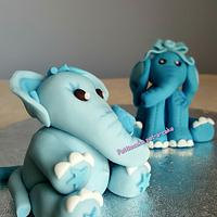Baby elephants by Pattiecake
