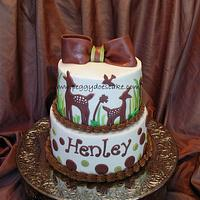 Willow Bedding Baby Shower Cake