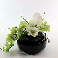 Arrangement - green and white flowers by Anka
