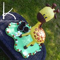 3D Sculpted, free-standing Giraffe