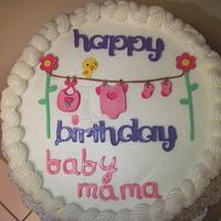 New Mom birthday cake