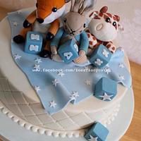 stuffed animal cake