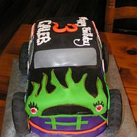 Grave Digger cake by Cake Creations by Christy