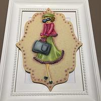 Fashion girl cookie