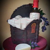 Picnic basket cake