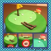 Golf cake by marieke