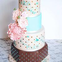 Mon Amour Wedding Cake by Mericakes