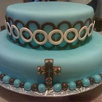 Son's Baptism Cake