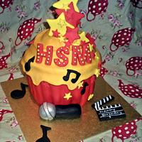 high school musical giant cupcake