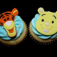 Tigger and Pooh Cupcake toppers