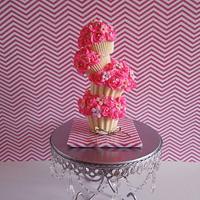 Multi tier midi cupcakes by iriene wang