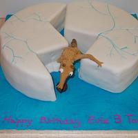 Ice age Scrat birthday cake