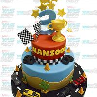 Racing Cars Themed Cake