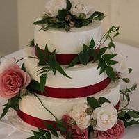 Rough Finish Buttercream Wedding
