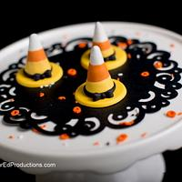 Witch hat brownie bites