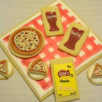Pizza Picnic Sugar Cookies