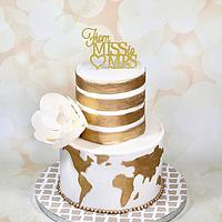 World bridal shower cake
