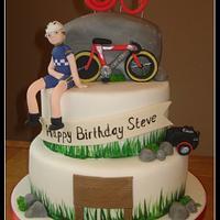 3 Tier 60th birthday cake