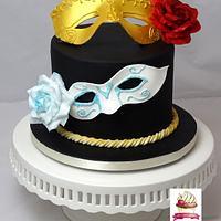 Carnival Cakers Collaboration- Venetian Carnivalmask