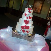 Illuminated Cascading Hearts Cake by DeliciousDeliveries