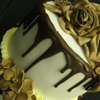 Chocolate drizzle cake by Essentially Cakes