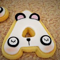 Cookies with panda bear faces