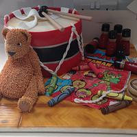 Toy drum cakeb