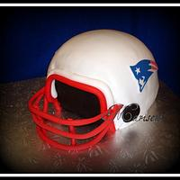 Patriot's Super Bowl Helmet Cake