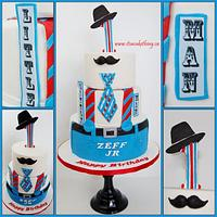 """""""Little Man"""" Themed 1st Birthday Cake  by It's a Cake Thing"""