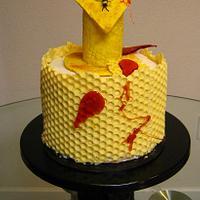 Honeycomb Birthday Cake