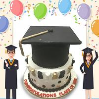 Grad Hat Cake