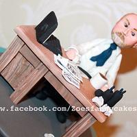 grumpy office worker