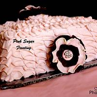 RUFFLE CAKE by pink sugar frosting