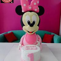 Baby Minnie Mouse 3D Cake