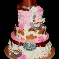 Pretty in Pink Cowgirl cake